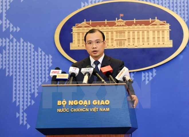 Foreign Ministry Spokesman Le Hai Binh. Photo: VNA