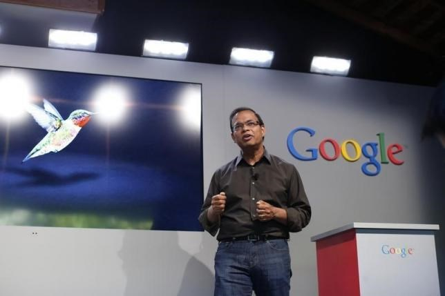 Amit Singhal, senior vice president of search at Google, in Menlo Park, California in this September 26, 2013 file photo.