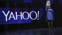 Yahoo CEO Marissa Mayer delivers her keynote address at the annual Consumer Electronics Show (CES) in Las Vegas, Nevada in this January 7, 2014 file photo.