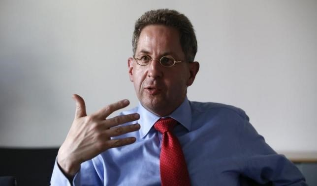 Hans-Georg Maassen from the Federal Office for the Protection of the Constitution (BfV) gestures during an interview in Berlin, Germany August 4, 2015.