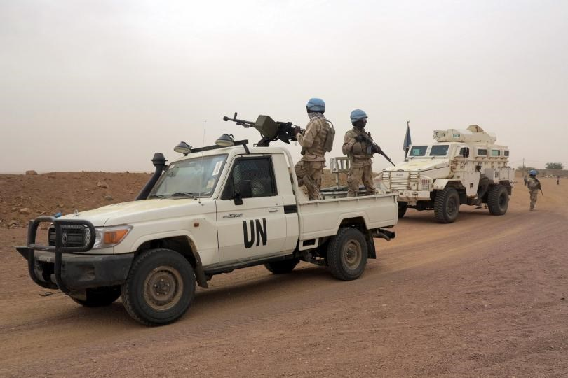 U.N. peacekeepers patrol in Kidal, Mali, July 23, 2015.