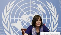 World Health Organization (WHO) Assistant Director-General Marie-Paule Kieny addresses a news conference on Zika virus in Geneva, Switzerland, February 12, 2016.