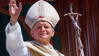 John Paul II was pope from 1978 to 2005 and was made a saint by the Catholic Church after his death