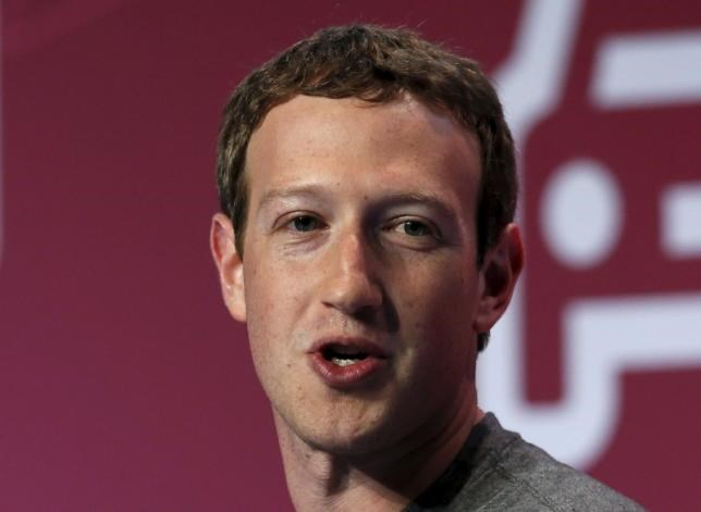 Mark Zuckerberg, founder of Facebook, delivers a keynote speech during the Mobile World Congress in Barcelona, Spain February 22, 2016.