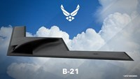 US Air Force released an artist's impression of the B-21 bomber