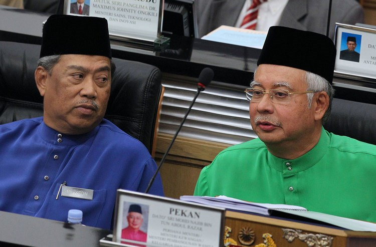 Deputy Prime Minister Muhyiddin Yassin, and Najib Razak, Malaysia's Prime Minister. Photographer: Goh Seng Chong/Bloomberg