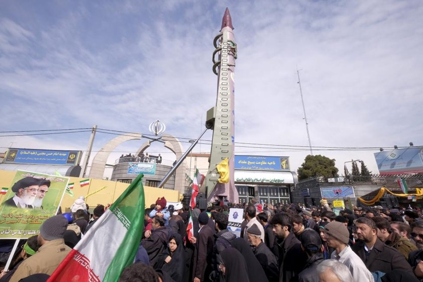 Iranian-made Emad missile is displayed during a ceremony marking the 37th anniversary of the Islamic Revolution, in Tehran February 11, 2016.