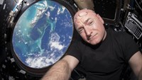 NASA astronaut Scott Kelly is seen inside the cupola of the International Space Station, a special module that provides a 360-degree viewing of the Earth and the station in this undated photo released on March 11, 2016.