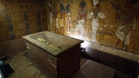 View of King Tutankhamun's burial chamber in Luxor