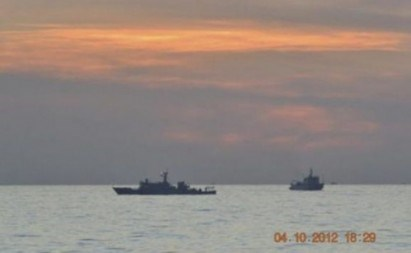 Chinese surveillance ships at Scarborough Shoal (Reuters file)