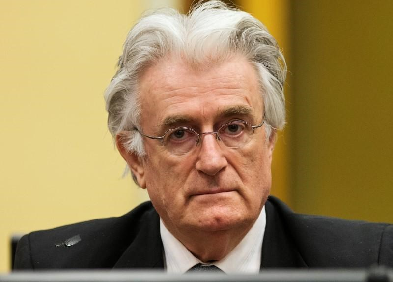 Bosnian Serb wartime leader Radovan Karadzic appears in the courtroom for his appeals judgement at the International Criminal Tribunal for Former Yugoslavia (ICTY) in The Hague July 11, 2013.