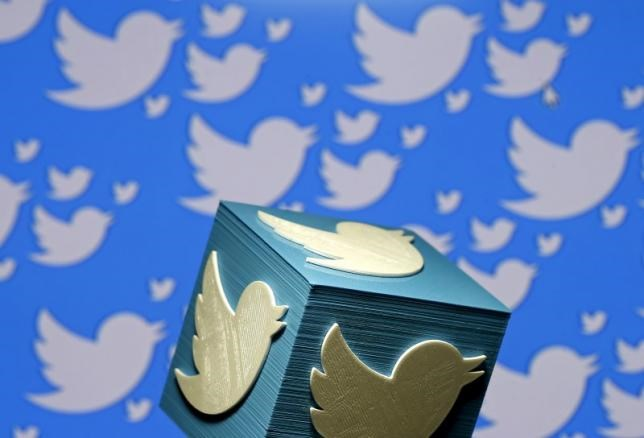 A 3D-printed logo for Twitter is seen in this picture illustration made in Zenica, Bosnia and Herzegovina on January 26, 2016.