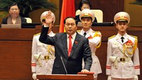 New President Tran Dai Quang was sworn into office in the morning of April 2