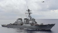 The U.S. Navy guided-missile destroyer USS Curtis Wilbur patrols in the Philippine Sea in this August 15, 2013 file photo.