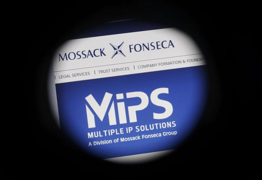 The website of the Mossack Fonseca law firm is pictured through a large format lens in Bad Honnef, Germany April 4, 2016.