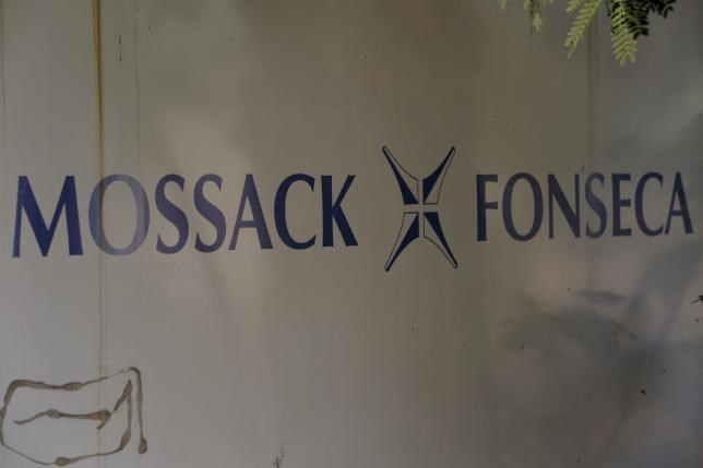 A Mossack Fonseca law firm logo is pictured in Panama City April 3, 2016.