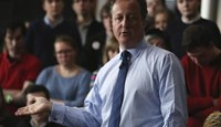 Britain's Prime Minister David Cameron addresses students at Exeter University in Exeter, Britain April 7, 2016.