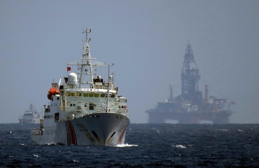 Chinese ships around the area in Vietnam's exclusive economic zone where the Haiyang Shiyou 981 rig was deployed in 2014. Photo: Reuters