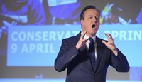 Britain's Prime Minister, David Cameron, addresses the Conservative Spring Forum in central London, Britain April 9, 2016.
