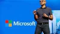 Microsoft CEO Satya Nadella delivers the keynote address during the Microsoft Build 2016 Developer Conference in San Francisco, California in this March 30, 2016, file photo.