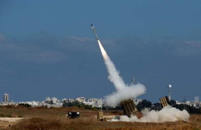 An Iron Dome launcher fires an interceptor rocket in the southern Israeli city of Ashdod July 9, 2014.