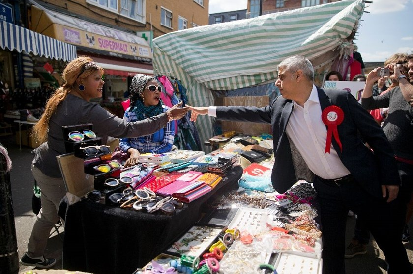 Newly elected London Mayor Sadiq Khan (R) the son of Pakistani immigrants, won with 57 percent, or 1.3 million votes, giving him the largest personal mandate of any British politician