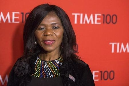 Madonsela arrives at the Time 100 gala celebrating the magazine's naming of the 100 most influential people in the world for the past year, in New York