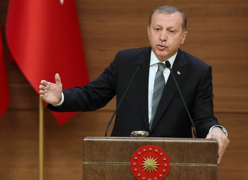 Turkish President Recep Tayyip Erdoga has accused the EU of hypocrisy