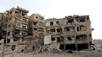 The Syrian city of Daraya had a pre-war population of around 80,000 people but that has dropped by almost 90 percent