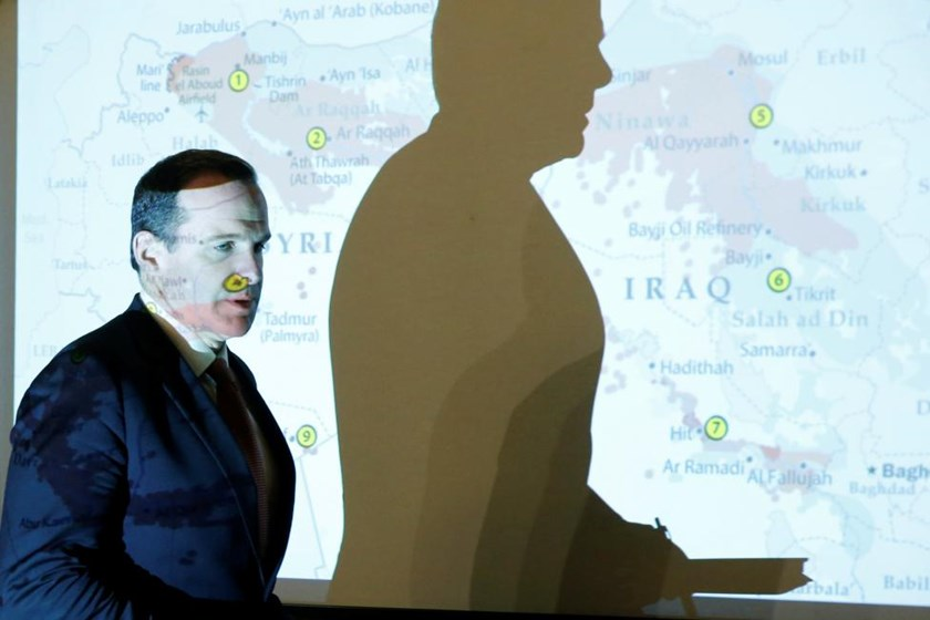Brett McGurk, the United States' envoy to the coalition against Islamic State, arrives to attend his a news conference in Amman, Jordan, May 15, 2016.