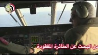 Pilots of an Egyptian military plane take part in a search operation for the EgyptAir plane that disappeared in the Mediterranean Sea in this still image taken from video May 19, 2016. Egyptian Military/Handout via Reuters TV