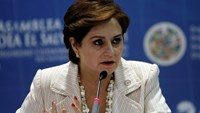 Mexico's Foreign Minister Patricia Espinosa speaks during a news conference at the 41st General Assembly of the Organisation of American States (OAS) in San Salvador June 6, 2011.