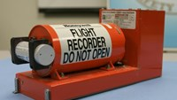 FIle photo shows the Cockpit Voice recorder from the crash of Continental Connection flight 3407 near Buffalo, New York that is displayed at the National Transportation Safety Board (NTSB) headquarters in Washington, February 13, 2009.