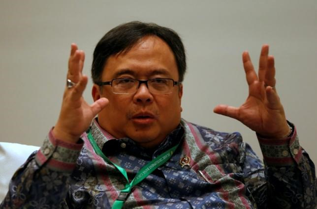 Indonesia Finance Minister Bambang Brodjonegoro attends a Reuters interview in Jakarta, Indonesia, May 19, 2016.