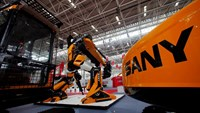 Heavy machinery is seen at Sany Heavy Industry assembly plant in Lingang Industrial Park, near Shanghai June 28, 2012.