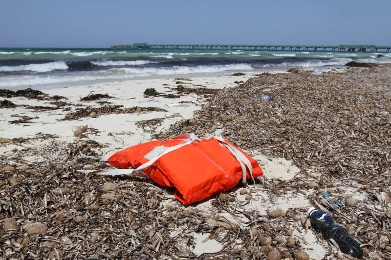 Life jacket washed up on the shore are pictured near a route frequented by migrants trying to cross the Mediterranean, near the coastal town of Zuwara, west of Tripoli, Libya, June 4, 2016.