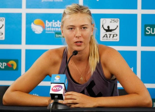Maria Sharapova of Russia speaks during a news conference at the Brisbane International tennis tournament in Brisbane, Australia on January 1, 2013.