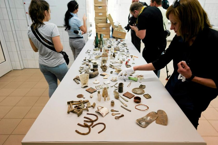 Belongings of the former Nazi death camp of Auschwitz-Birkenau prisoners are presented during a news conference at the Auschwitz Birkenau State Museum in Oswiecim, Poland June 8, 2016.