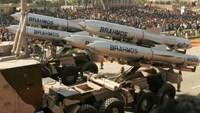 ndia's Brahmos supersonic cruise missiles, mounted on a truck, pass by during a full dress rehearsal for the Republic Day parade in New Delhi, India, January 23, 2006.