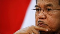 Indonesia's Vice President Jusuf Kalla gestures during an interview with Reuters in Jakarta