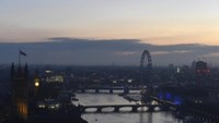 Dawn breaks over London as votes are counted for the EU referendum, Britain June 24, 2016.