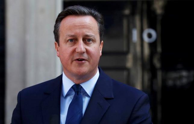 Britain's Prime Minister David Cameron speaks after Britain voted to leave the European Union, outside Number 10 Downing Street in London, Britain June 24, 2016.