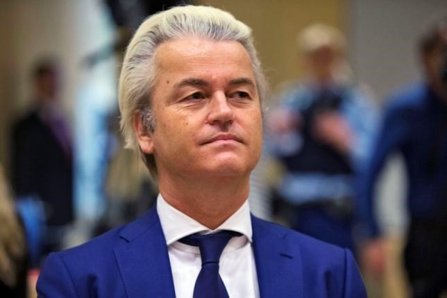 Dutch far-right Party for Freedom (PVV) leader Geert Wilders sits in a courtroom of the courthouse in Schiphol, the Netherlands March 18, 2016.