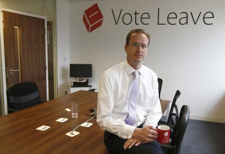 Head of Vote Leave, Matthew Elliott, poses for a photograph at the Vote Leave campaign headquarters in London, Britain May 19, 2016.
