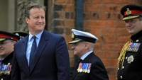 Britain's Prime Minister David Cameron attends an Armed Forces Day National Event (AFDNE) at Cleethorpes in Britain June 25, 2016.