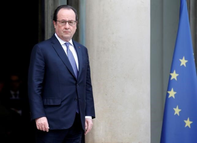 French President Francois Hollande appears at the Elysee Palace in Paris, France, June 25, 2016.