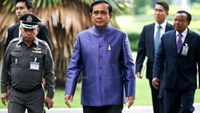 Thailand's Prime Minister Prayuth Chan-ocha arrives at a weekly cabinet meeting at Government House in Bangkok, Thailand, June 21, 2016.