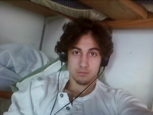 Boston bombing suspect Dzhokhar Tsarnaev is pictured in this file handout photo presented as evidence by the U.S. Attorney's Office in Boston, Massachusetts on March 23, 2015.