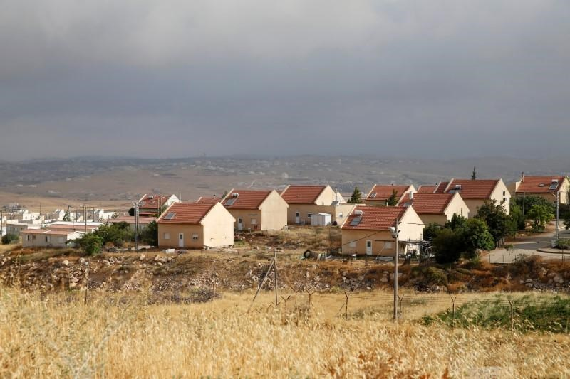 Houses are seen in the West Bank Jewish settlement of Karmel, near Hebron May 24, 2016.