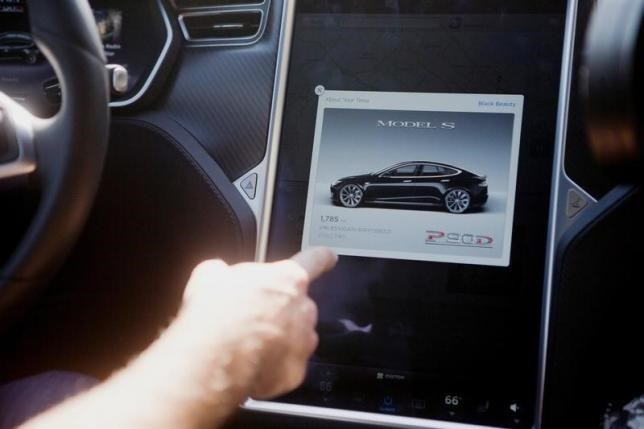 The Tesla Model S version 7.0 software update containing Autopilot features is demonstrated during a Tesla event in Palo Alto, California, U.S., October 14, 2015.